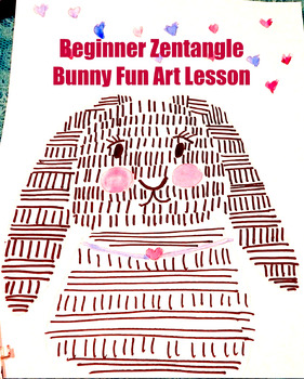 Zentangle Bunny Beginner Zentangle History Lesson and Art Project