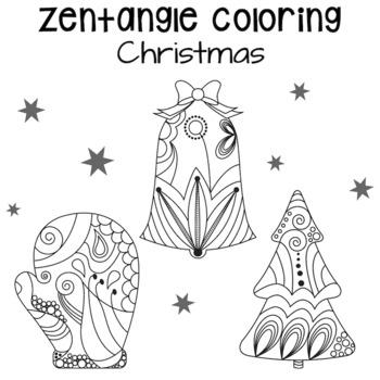 FREE Zentangle Christmas Coloring