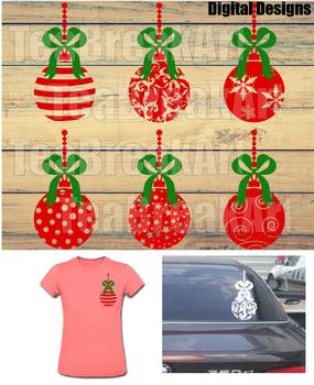 Zentangle Christmas Ornament Digital Cutting Files SVG PNG EPS dxf clipArt 733C