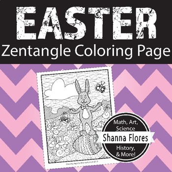 Zentangle Coloring Page - Easter Bunny - Holiday