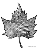 Zentangle Coloring Page: Leaf