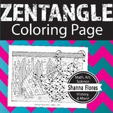 Zentangle Coloring Page - Spotted Octopus - Zen