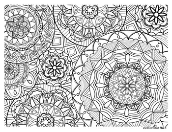 Zentangle Coloring Page: Mandala by Love From Miss H | TpT