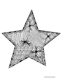 Zentangle Coloring Page: Star