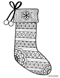 Zentangle Coloring Page: Stocking