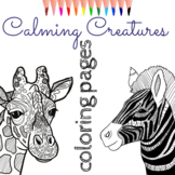 Zentangle Coloring Pages: 8 Calming Animals Mindfulness Activity
