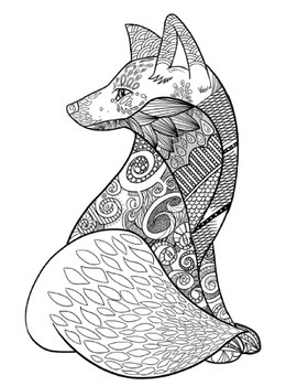 Zentangle Coloring Pages 8 Calming