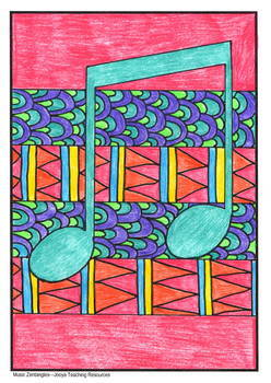 Zentangle Coloring Pages – Music