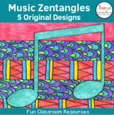 Music Zentangle Coloring Pages