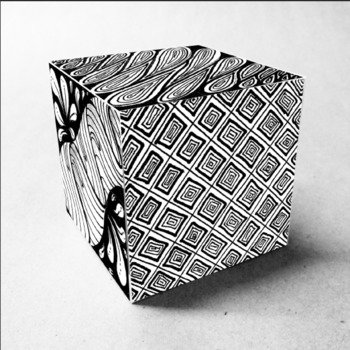 Doodle Cubes Art Activity - Doodle Art Lesson