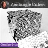 Zendoodle Cubes Art Activity - Doodle Art Lesson