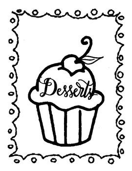 Zentangle Dessert Colouring Book