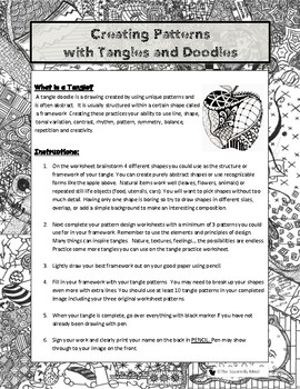 Zentangle Doodle Drawing Pen and Ink Lesson