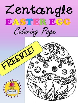 Zentangle Easter Egg Freebie Coloring Page!