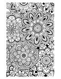 Zentangle Flowers Coloring Sheet