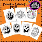 Zentangle Halloween Pumpkin Coloring Activity Pages
