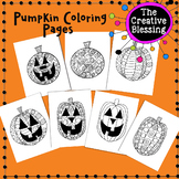 Zentangle Halloween Pumpkin Coloring Activity Pages
