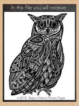 Owl Clip Art FREEBIE