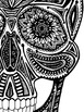 Black and White Skull Clip Art