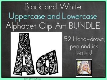 Uppercase and Lowercase Alphabet Clip Art BUNDLE