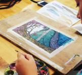 Zentangle Landscape Sketch