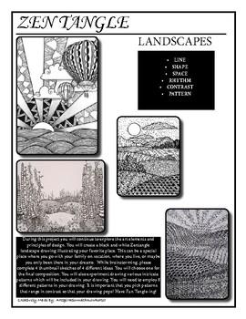 Zentangle Landscapes