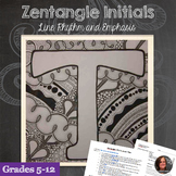 Zentangle Letters - Doodle Art,Line, Rhythm, Emphasis
