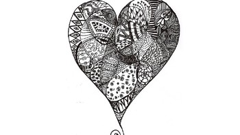 Zentangle Line Drawing