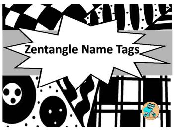 Zentangle Name Tags