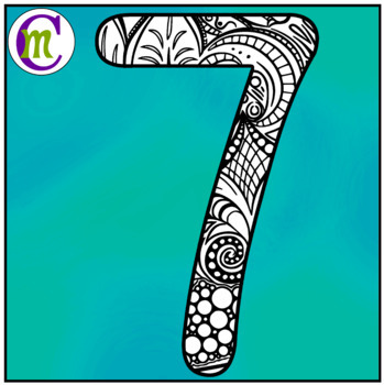 Doodle Numbers Clipart