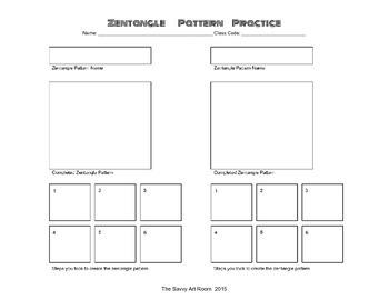 Zentangle Pattern Practice Worksheet