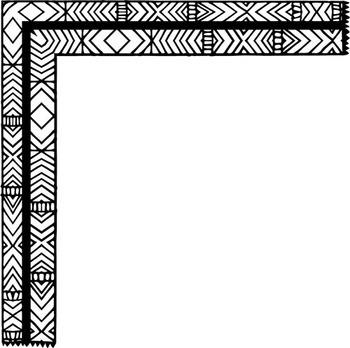 Zentangle Photo Corner ClipArt - Frame Clip Art - Doodled Page Borders