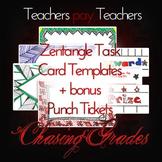 Zentangle Task Card Templates + Bonus Punch Tickets