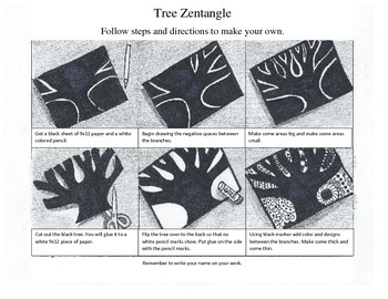 Zentangle Tree Handout
