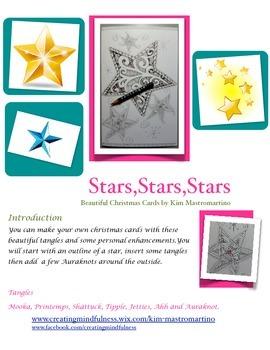 Zentangle and Doodle Inspired Art:Christmas Stars