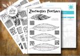 Zentangles Feathers