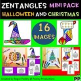 Zentangles Holiday Mini Pack - Halloween and Christmas