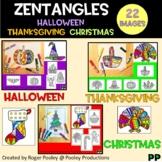 Zentangles Mini Pack - Halloween, Thanksgiving and Christmas