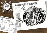 Halloween Art Lesson - Zentangles Pumpkin