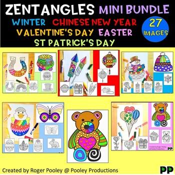 Zentangles Seasonal Mini Bundle 2 - Coloring pages