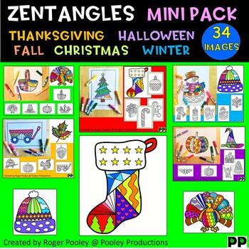 Zentangles Seasonal Mini Bundle 1 - Coloring pages