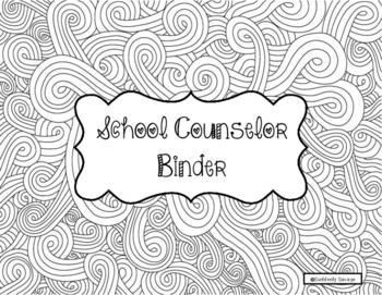 Zentastic School Counselor Binder
