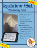 FREE Zeppelin Terror Attack: WWI Video Quiz / Worksheet / Teaching Packet