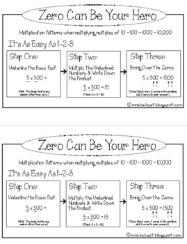 Zero Can Be Your Hero - Multiplication Patterns with Multiples of 10, 100, 1000