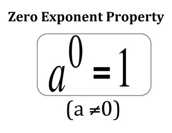 Zero Exponent Property Concept Clue