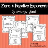 Zero & Negative Exponents Scavenger Hunt