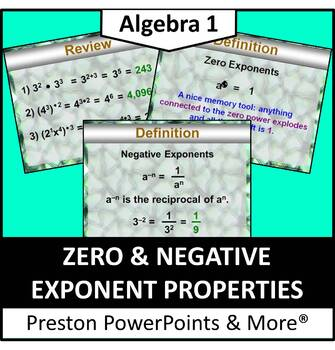 Zero & Negative Exponents in a PowerPoint Presentation