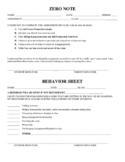 Zero Note and Behavior Note