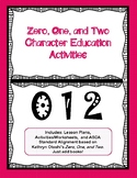 Zero, One, & Two Character Education Lessons (Pair with Kathryn Otoshi's Books)