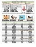Zero Prep Present Continuous Grammar Worksheets